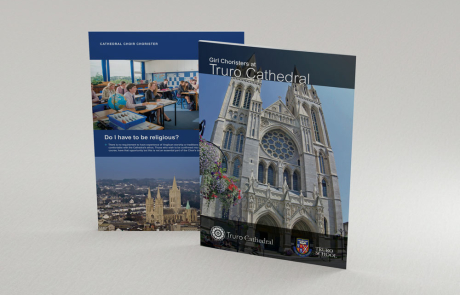 Truro School Girl Choristers at the Cathedral leaflet cover