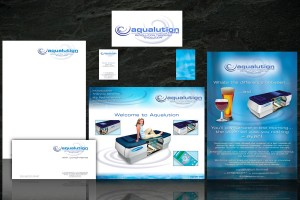 Aqualution corporate branding