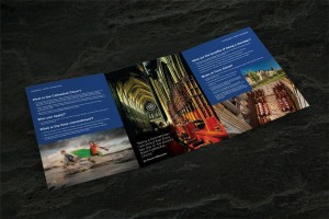Truro School Girl Choristers 6pp gatefold leaflet
