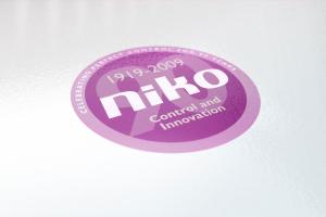 Niko 90 Years logo