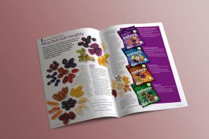 Autovending magazine spread