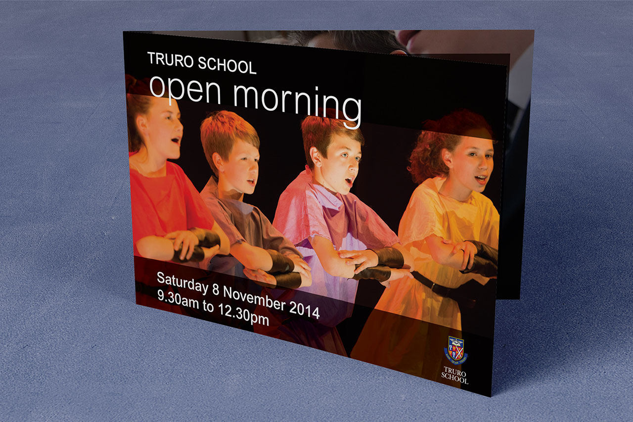 Truro School Open Morning A4 brochure