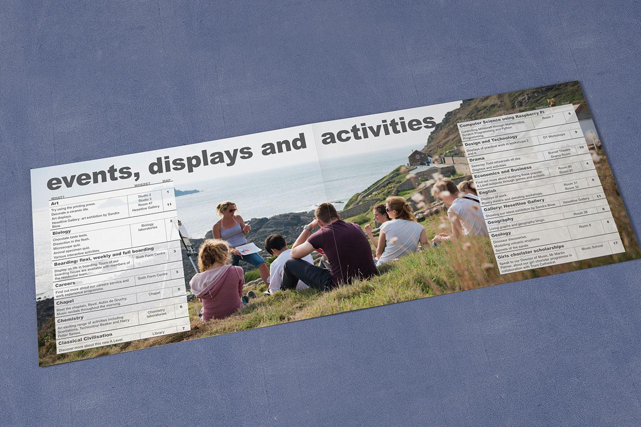 Truro School Open Morning A4 brochure